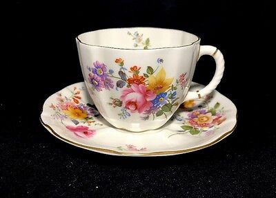 Royal Crown Derby Derby Posies Tea Cup And Saucer Set-1 Bone China England