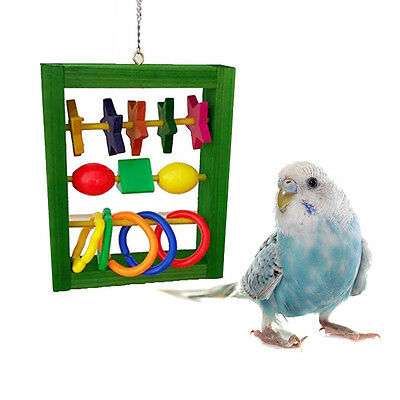 Parrot IntellectiveToy Multicolor Swing Bird Toy Parrot Cage Chew Toys