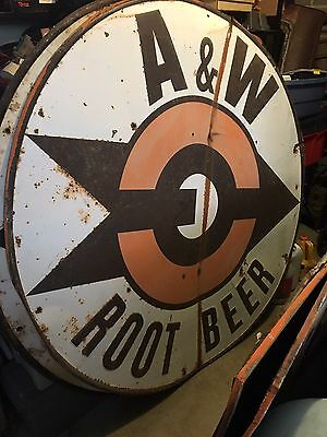 Rare Large Original A&W Root Beer Sign 60 Inches Across