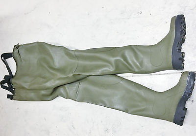 Ultra Rare French Commercial Le Chameau Super Sarine Chest Waders 42 Gum Hazmat