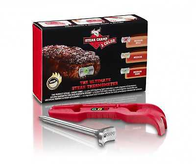 New SteakChamp - Steak Thermometer, 3 Color, 3-in-1