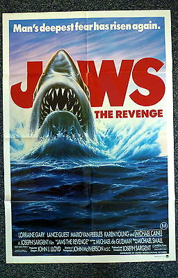 JAWS The Revenge Original 1980s One Sheet Movie Poster Michael Caine