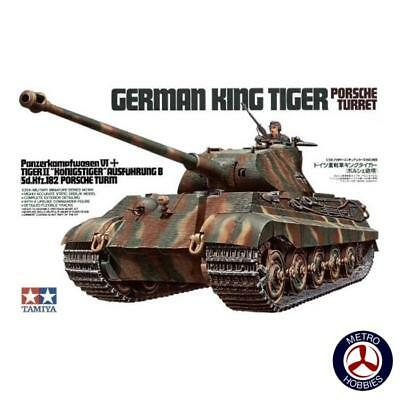 Tamiya 1/35 German King Tiger w/Porsche Turret T35169 Brand New