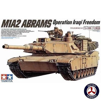 Tamiya 1/35 US M1A2 Tank Abrams 120mm MBT T35269 Brand New