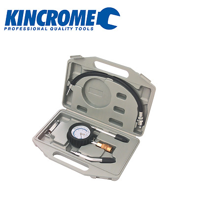 Kincrome Compression Tester Engine Testing Petrol Adapter Diesel Tool Kit 08109