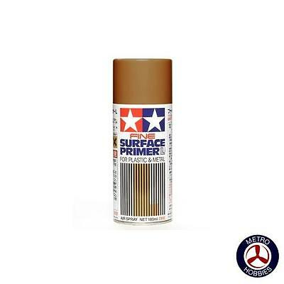 Tamiya Fine Surface Primer L for plastic and metal Oxide Red 87160 Brand New