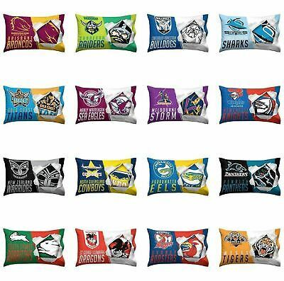 Official NRL Pillow Case Pillowcase 73cm x 48cm