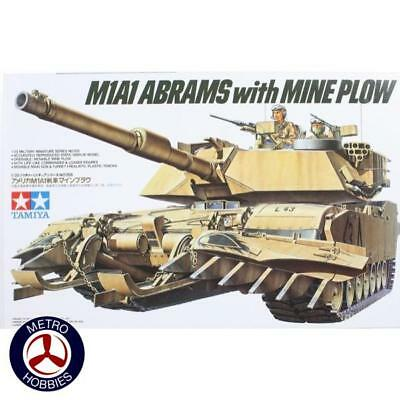 Tamiya 1/35 US M1A1 Abrams With Mine Plow T35158 Brand New