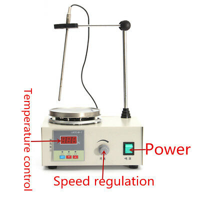 85-2 Magnetic Stirrer Temperature Control with Heating Hotplate Mixer Set 220V