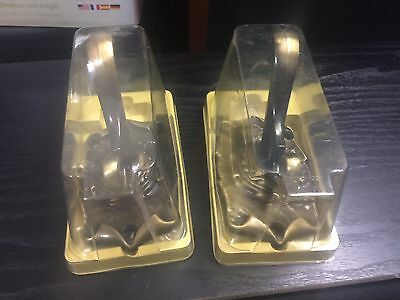 Nos Vtg. Pair Of Amerock Carriage House Brass Double Hook - Robe - Towell