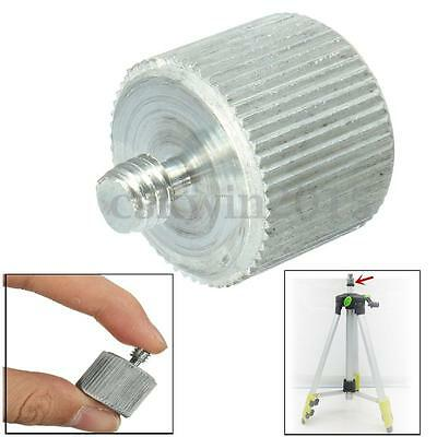 """Metal Silver 5/8"""" Female To 1/4"""" Male Tripod Gradienter Thread Reducer Adapter"""