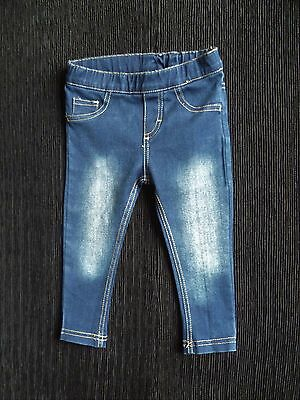 Baby clothes GIRL 12-18m 42cm lon  Bebe/Minihaha stretch skinny jeans dark blue
