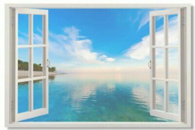 Poster Window View Office Room Wall Decoration Art Wall Cloth Print 506