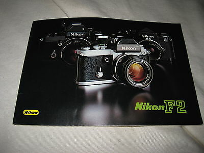 Nikon F2 1976 Camera System Booklet Product Brochure Guide 19 Pages F2S 8055-01