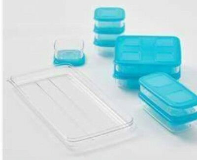 Tupperware Clearmates Large Set With Tray Brand New Fridge Storage Containers