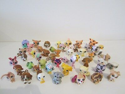 GROS LOT de 50 LITTLEST PETSHOP LPS chat cat chien dog lapin rabbit singe monkey