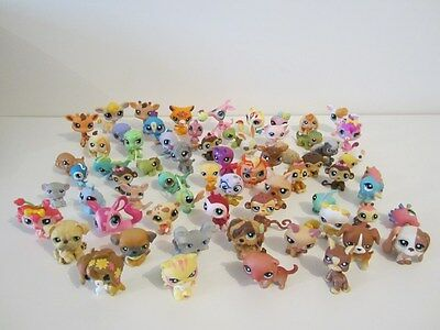 GROS LOT de 65 LITTLEST PETSHOP LPS chat cat chien dog lapin rabbit singe monkey