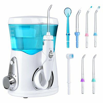 Dental de Agua Irrigador Oral Profesional para Uso Familiar con 8 Boquillas