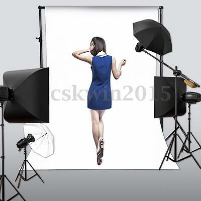 5x7FT White Studio Backdrop Vinyl Photography Solid Color Photo Background Props