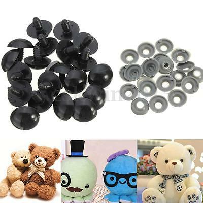 20/40/100x 6-20mm Black Plastic Safety Eyes For Teddy Bear/Dolls/Toy Animal