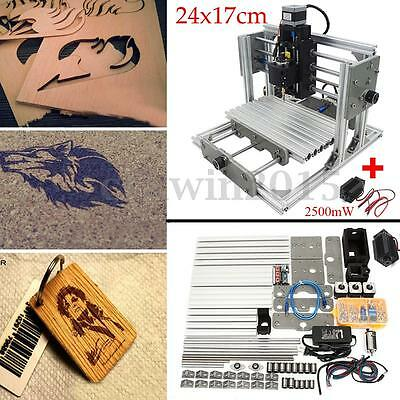 3 Axis Router Mini CNC Milling Machine Engraving + 2500mw Laser Engraver Head