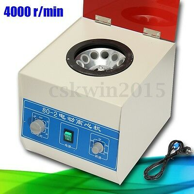 NEW 80-2 Electric Centrifuge Lab Medical Practice Timer 4000RMP 20ML x 12A