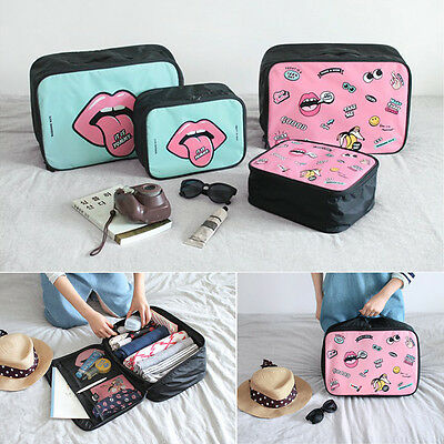 New Cartoon Makeup Travel Organizer Cosmetic Toiletry Zip Storage Bag Case Pouch
