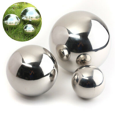 3 Size Stainless Steel Mirror Sphere Hollow Ball Home Garden Ornament Decoration