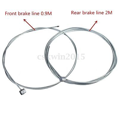2pcs 2M Mountain Bike Bicycle Cycle Brake Inner Cable Core Wire Line Barrel Ends