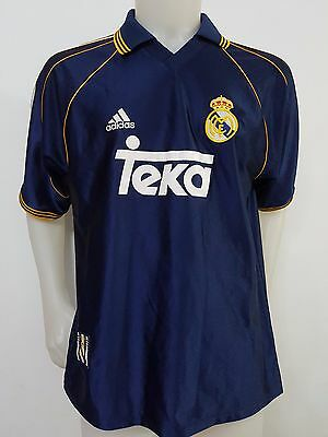 Maglia Shirt Calcio Real Madrid Teka 1998 Tg.l Soccer Vintage Football S533