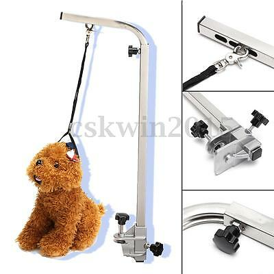 Adjustable Portable Grooming Bath Table Arm + Leash Pet Dog Bath Desk Accessory