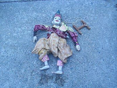 Antique vintage India Puppet Marionette Rare wood wooden figural doll toy old