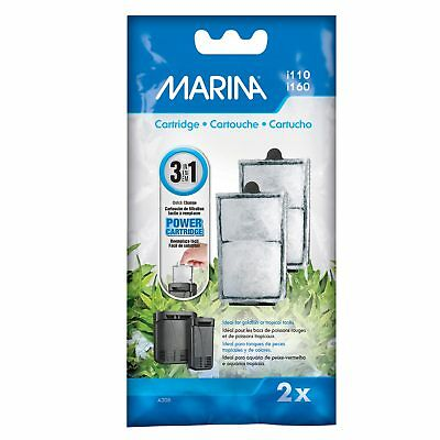 Marina Internal Power Filter Replacement Cartridge For i110 i160 (2 Pack)