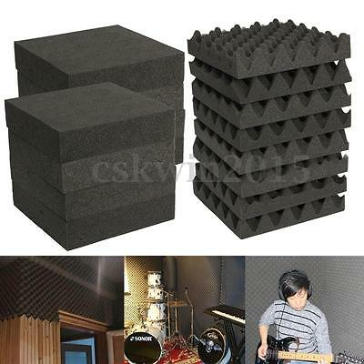1/6/24/30X Acoustic Foam Panel Tiles Studio KTV Sound Noise Proofing Insulation