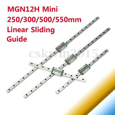 MGN12H Sliding Block Linear Guide Rail 250 300 350 400 450 500 550mm CNC Tool