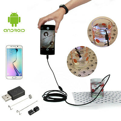 7mm 5.5mm Endoscope Video Camera Borescope Snake Probe Tube for Android Phone UK