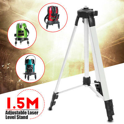 Universal Aluminum Alloy 1.5M High Tripod Adjustable Stand For Laser Level w/Bag