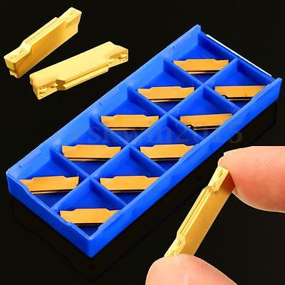 10Pcs MGMN300-M Carbide Insert 3mm in BOX  For MGEHR/MGIVR Grooving Cut-Off Tool