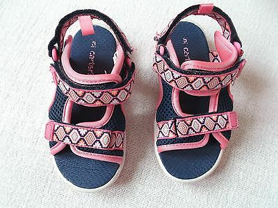 Carter's Girls Blue and pink SANDALS Shoes Size US8  EUC