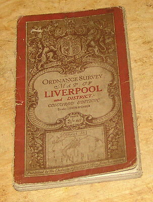 1913 Ordnance Survey Map of Liverpool and District
