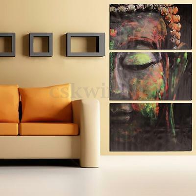 3 Panels Buddha Figure Painting Canvas Art Picture Wall Living Room Home Decor