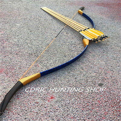 20-60IBS traditional Longbow recurve bow for Archery +6 wooden arrow