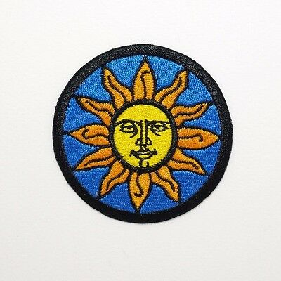 Sun Patch — Iron On Badge Embroidered Motif — Sol Face Spiritual New Age #386