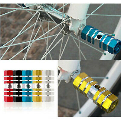 HOT BMX MTB Bike Stunt Pegs Mountain Bicycles Axle Foot Alloy Hexagonal Cylinder