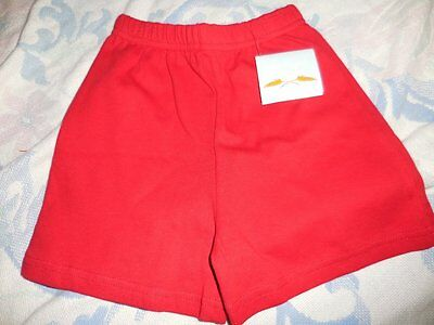 nwt Little English boutique stretch cotton red shorts boy girl 4 free ship