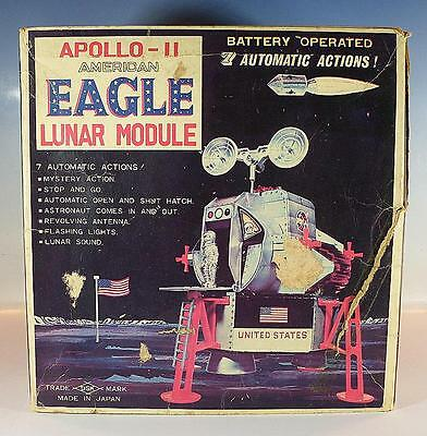 Daishin Japan Blech Space Apollo II American Eagle Lunar Module in O-Box #1213