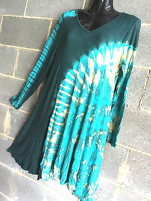 Lot of 3 spandex TOP/DRESS.LONG SLEEVE.GOOD QUALITY.SUIT LARGER SIZES TOO.TYE DI