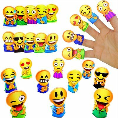 German Trendseller® - 24 x Emoji - Fingerpuppen - Party Strolche ┃ -NEU- ┃