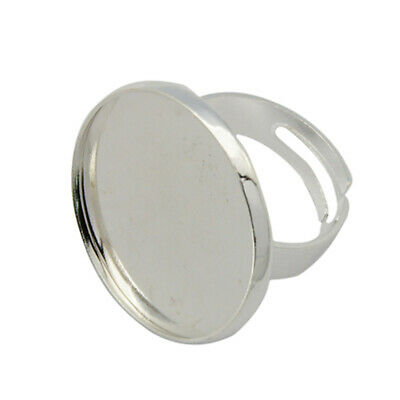 5pcs Adjustable Ring Pad Ring Base Findings 23mm For Jewelry Making Craft