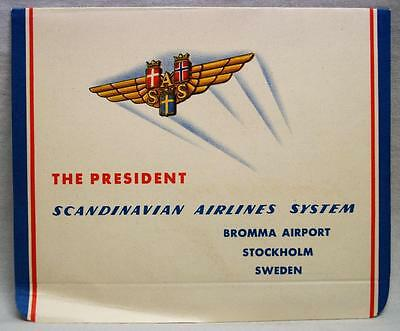 Sas Scandinavian Airlines System Letter To The President Mailer Vintage Aviation
